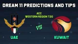 Dream11 Team Prediction Cricket KUW vs UAE Kuwait vs United Arab Emirates, ACC Western Region T20 – Cricket Prediction Tips For Today's Match Cricket KUW vs UAE at Oman